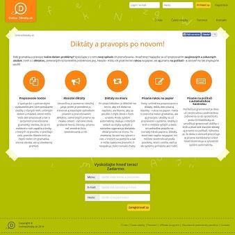 Web OnlineDiktáty.sk